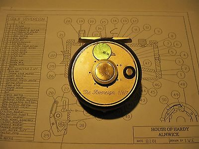 Hardy Sovereign Reel - Regulator Button Cover - Brass