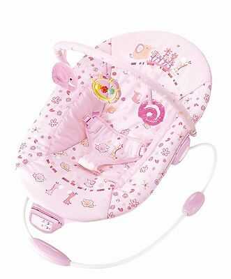 Cute Baby - Pink Ellie- Recline Vibrating & Musical Bouncer (6358)