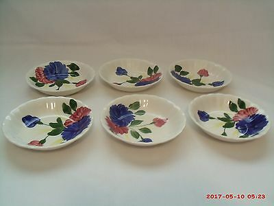 Blue Ridge Southern Potteries Berry or Dessert Bowls, Chrysanthemum, Set of 6