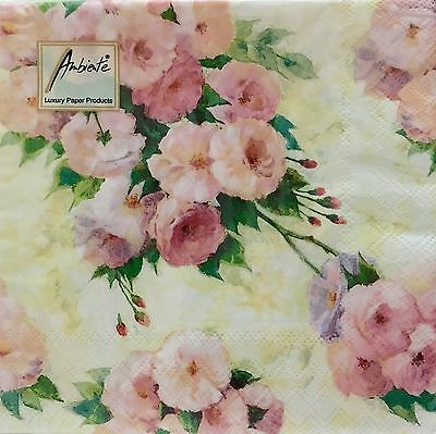 Ambiente Arianna Cream Pack Of 20 Made In Netherlands For Decoupage