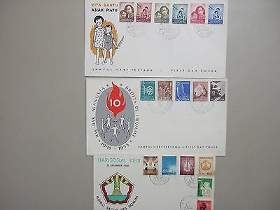 Two '50+1X '60 Indonesia fdc