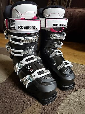 Rossignol Womens ski boots (25.5) 3298mm 7 Uk Size Would Fit 6-7 Comfortable.