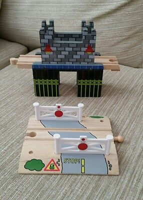 Brio / elc / thomas wooden track bridge & crossing #bargain#