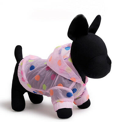 Pink Spring Puppy Sunscreen Pet Dog Cat Clothes Cute Soft Polyester Raincoats S