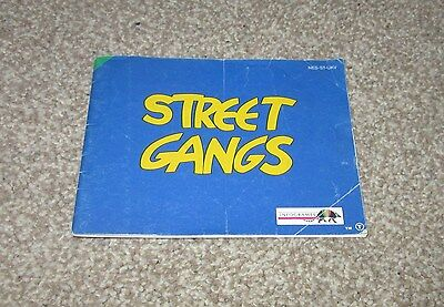 NINTENDO NES MANUAL ONLY for STREET GANGS