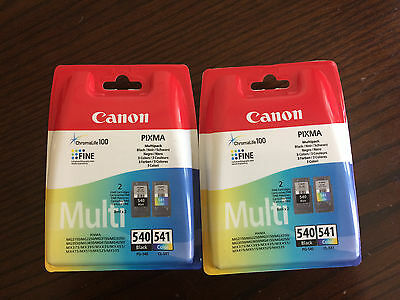 2 X Canon ink cartridges PG540 & CL541