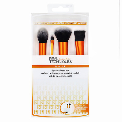 Real Techniques Flawless Base Set New Sealed  Make Up Brushes