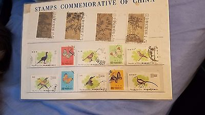 Commemorative Stamps of China lot of 14 sealed postage stamps