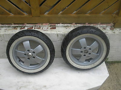 vespa scooter wheels  alloy  good tyres