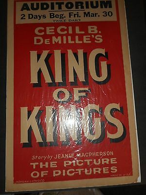 Cecil B. DeMille's King of Kings poster
