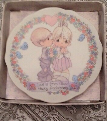 Precious Moments Love Is From Above Anniversary Mini Plate
