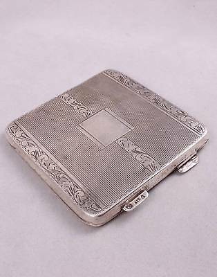 ANTIQUE c1920s DENMARK SOLID SILVER 835 CASE COMPACT 50 Grams
