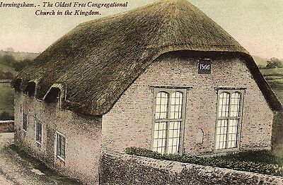 OLD WILKINSON POSTCARD 1900's - HORNINGSHAM - WILTSHIRE - CONGREGATIONAL CHURCH