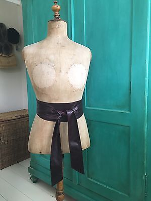 Vintage 100% High Quality Aubergine/Burgundy Ladies Belt