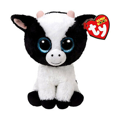 "Butter Cow Plush Soft Toy, Ty Beanie Boo's Collection 6"" (15cm)"