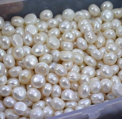 Calibrated Cultured Loose Fresh Water White Pearls Lot Gemstone
