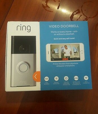 New Ring WiFi Enabled Smart Phone Video Security Camera Doorbell - Fast Shipping