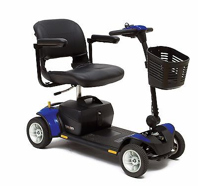 BLUE NEW Pride Go Go Elite Traveller PLUS 17ah Wheeled Mobility Boot Scooter