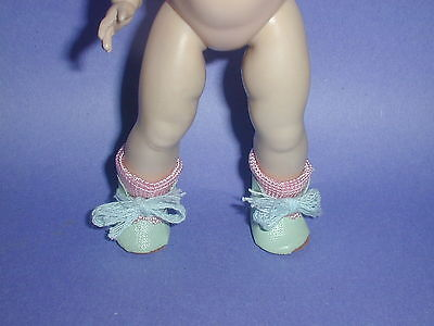 STRUNG Ginny Doll LIGHT BLUE Oilcloth Shoes/SOCKS, Muffie, Wendy Kin, Ginger!
