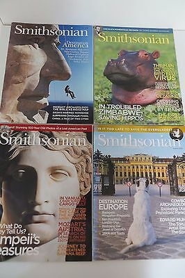 Job Lot of 4 Smithsonian Magazines, History, Science, Nature, Bundle