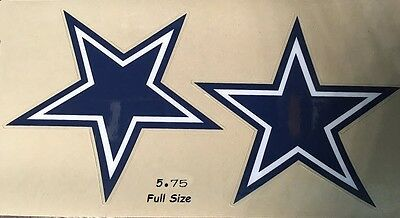 Dallas Cowboys Stars - F/S-XL- Football Helmet DECALS/Sides Only
