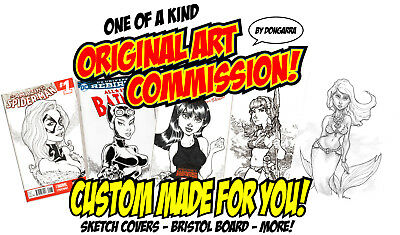 Original Comic Art Sketch Cover Commission! Custom Blank Variant Covers See List