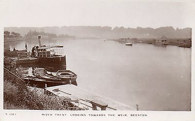 nottingham postcard trent looking towards the weir beeston real photo