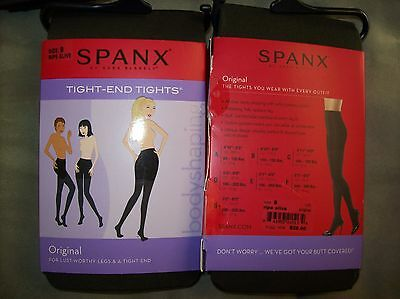 NWT/NIP $28 PERFECT Spanx Tight-End Tights Sz B Ripe Olive Body Shaping