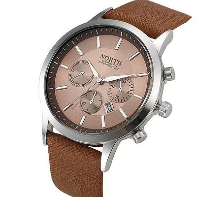 Mens Watches Luxury Casual Military Quartz Sports Male Wristwatch Leather Strap