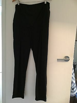 Black Loose Fitting Maternity Pants 14, Great For Work / Corporate