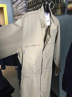 New Workrite Flame Resistant Khaki Coveralls, Size Large 44R