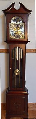 Grandmother Clock- exc cond/exc working order/Hermle triple chimes/Moon dial