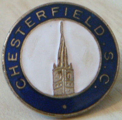 CHESTERFIELD FC Vintage SUPPORTERS CLUB Badge Maker VAUGHTONS B'ham 22mm Dia
