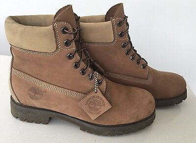 Rare Unique Mens Timberland Light Brown Waterproof Boots UK 9 LEATHER PREMIUM