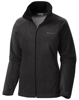 Columbia Dotswarm II Fleece Full Zip, Womens Fleece Sweater, Charcoal Heather S