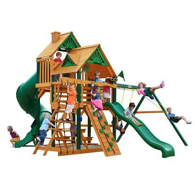 NEW Gorilla Playsets Great Skye I Treehouse with Timber Shield Swing Set