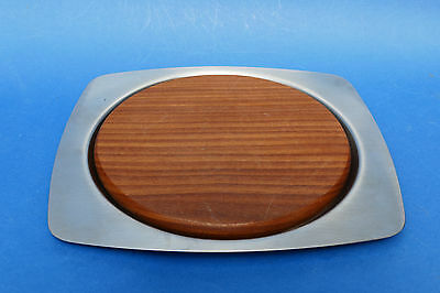 OLD HALL Stainless Steel & Teak CHEESE Board - like R Welch