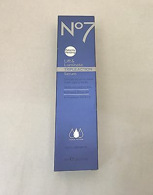 Boots No. 7 Triple Action Lift and Luminate Serum - 50ml [BOXED]