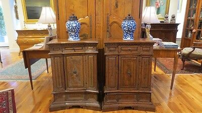 Rare Pair 17th Century Italian Prie-dieu Credenza Side Tables