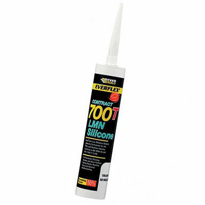 41 x Everbuild 700T PVCu & Roofline Industry Silicone Sealant - CLEAR