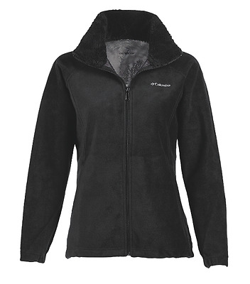 Columbia Dotswarm II Fleece Full Zip, Womens Fleece Sweater, Black XS