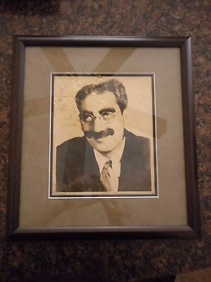 Groucho Marx Autograph Signed Photo Authentic Marx Brothers With COA