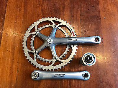 Campagnolo 172.5mm record crank set + Record BB (ENGLISH thread). Excellent cond