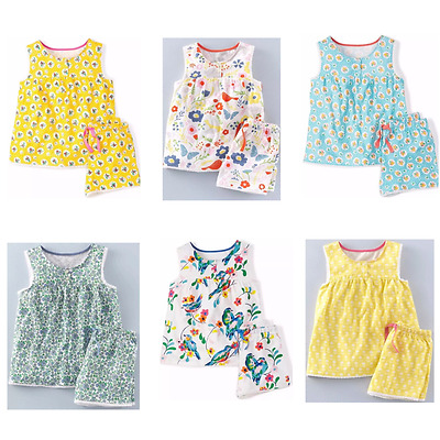 NEW IN 6 STYLES!! Girls ex Mini Boden Jersey Pyjamas Ages 6 -12 Mnths -12 Yrs