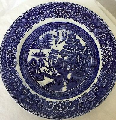 Antique Blue Willow Dudson Wilcox & Till LUNCHEON PLATES 9 Inches Hanley England