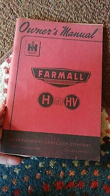 vintage international harvester IH farmall H manual 1940s tractor book