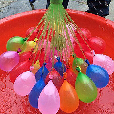 111Pcs 3Set Magic Already Tied Water Balloons Bombs Kids Garden Party Summer Toy