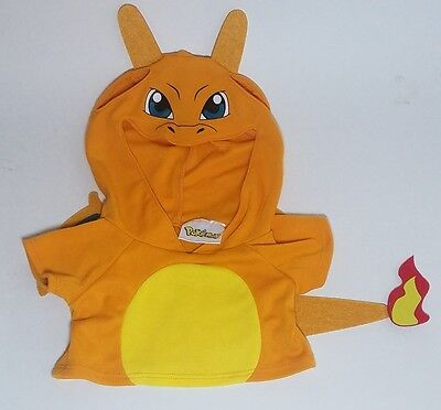 Build A Bear Workshop Web Exclusive Pokemon CHARIZARD Hoodie with Tag BAB unused
