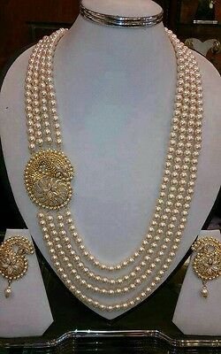 Bollywood Style  Beautiful  Costume Jewellery Necklace set with matching earing