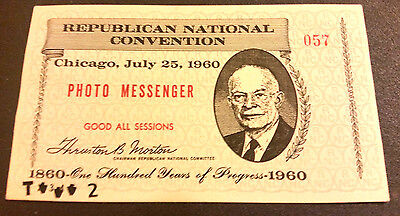 1960 Republican National Convention, Photo Messenger Pass 057